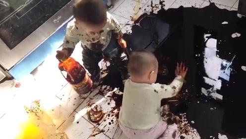 你们的孩子是不是都会打酱油了?其它油保护好!