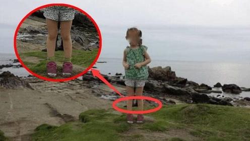 日本小女孩在海边拍照,却拍下如此诡异一幕,看到照片后背一凉!