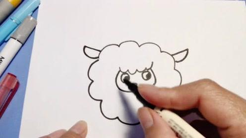 可爱的小羊手绘!像云朵一般软萌的简笔画!快收下一起画