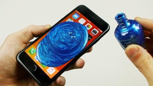 作死老外将指甲油涂在手机上,晾干后成品,惊艳众人!