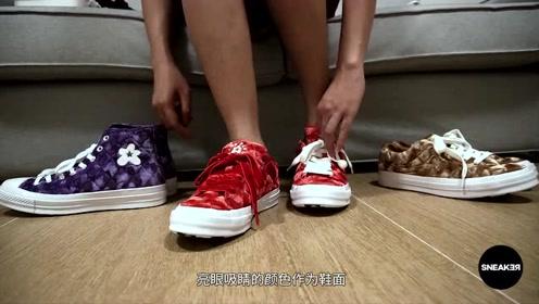 超高颜值的匡威小花联名,天鹅绒鞋面材质,是时候入手了!