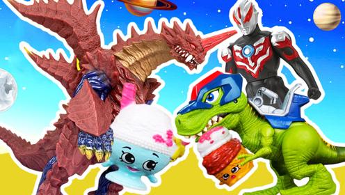《比特玩具》奥特曼恐龙救援队霸王龙出场!