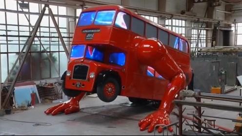 那些千奇百怪的公交车,第一辆会做俯卧撑,第三辆仅1.2米高