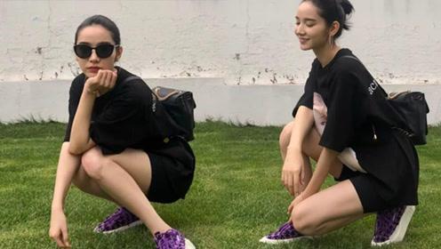 """还以为""""牛油果绿""""的鞋子够时髦了,直到看到了她的""""碎碎紫"""""""