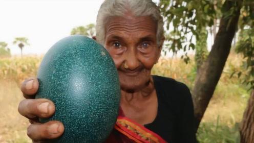 """老奶奶意外捡到""""绿色巨蛋"""",带回家敲开后,竟意外收获惊喜!"""