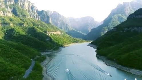 高清航拍,河南焦作云台山景色,不愧是世界级地质公园!