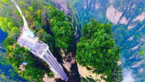 于绝壁之上,建筑了全球最高的户外电梯:百龙天梯