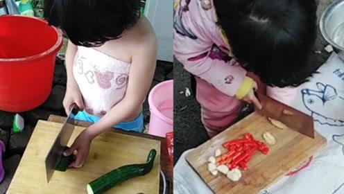 湖南6岁女娃刀工技艺高超,得知懂事的原因后让人心疼