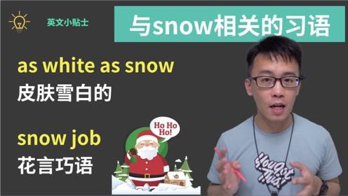 英语中与snow相关的习语
