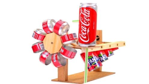 牛人将易拉罐改造下,功能可远远不止风车那么简单,太有才了