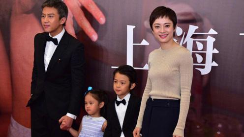 等等小花公开亮相为邓超电影造势 有爱的家庭让人羡慕