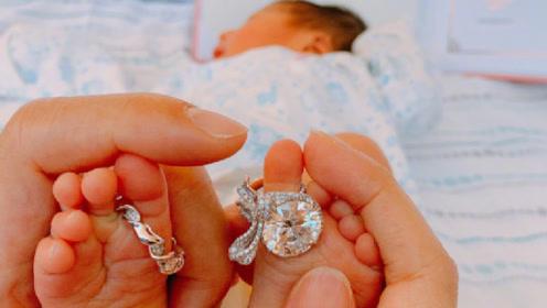 阔太安以轩晒照宣布产子!刚出生的宝宝脚上戴的巨钻闪瞎眼