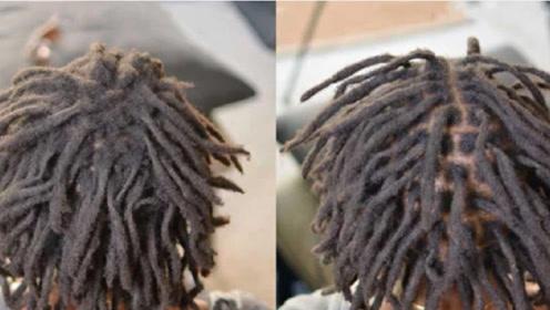 """非洲黑人的""""脏辫""""到底有多脏?头发入水的那刻,画面不忍直视!"""