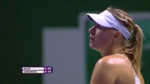 网球女神—莎拉波娃的经典击球现场 神表现啊!太吸引人了!