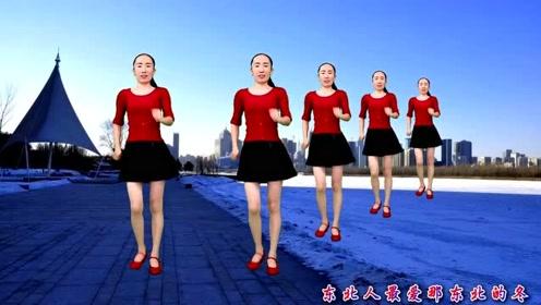 民间小调广场舞《东北的冬》简单32步秧歌舞附分解,送给初学者