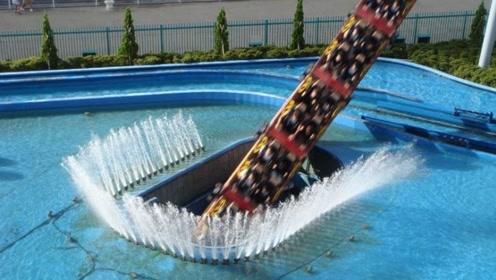 玩的就是心跳!全球首个潜水过山车,90度垂直降落冲进水中!
