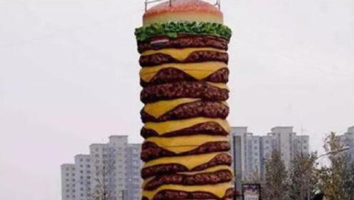 世界上最大的汉堡重1800斤,让人大开眼界,网友:这谁顶得住