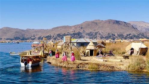 用芦苇编成的岛屿,不光住人还能建学校,已在水上漂浮千年