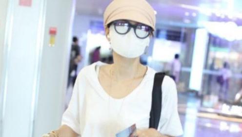 马伊琍离婚后低调现身机场,身材暴瘦锁骨吸,43岁仍如少女