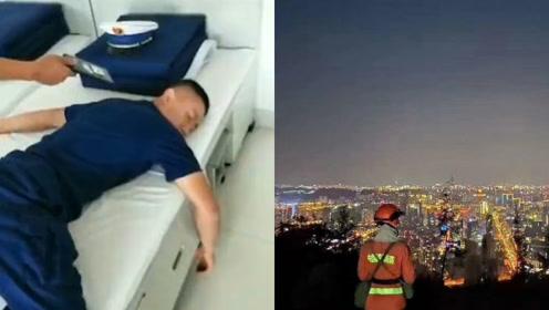 21岁消防员熟睡时听到警铃惊醒 ,战友拍7秒视频感动百万网友