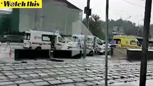 莫斯科一大巴发生交通事故车上载30多名中国公民