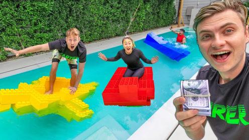 乐高小船挑战!漂浮时间最久就得1万美元,结果谁能想到?