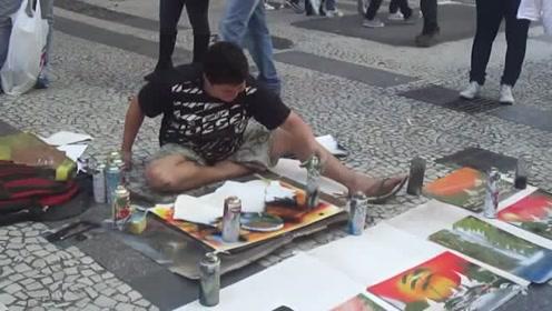 外国街头艺术家就是这么牛