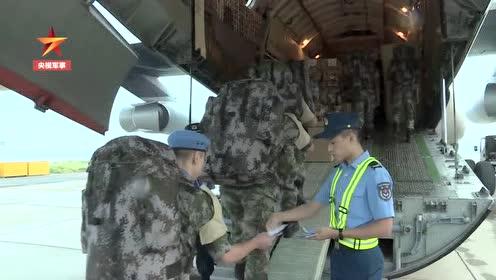 出发 中国第三批维和直升机分队赴达尔富尔
