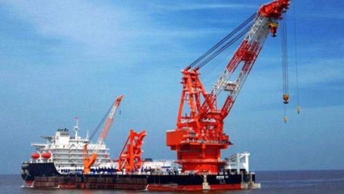 满排超过2艘辽宁舰,国产148000吨,起重船领先全世界!