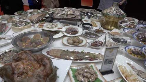 诱人!红烧鲤鱼和猪蹄膀:这108道满汉全席宴竟都是石头