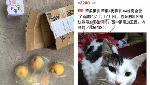 男子网购苹果手表收到4个苹果和儿童表:臭骗子! 卖家已被处罚