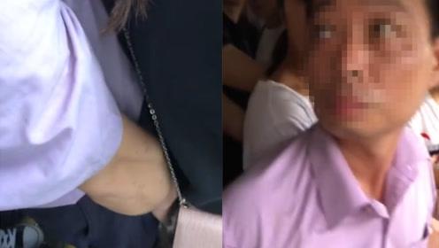 干得漂亮!看到男子猥亵女孩热心市民上前一把推开怒斥:干嘛呢!