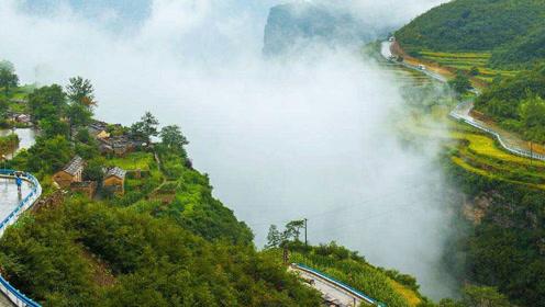 藏在太行山中的古村,紧挨万丈悬崖,风景如画却少有人踏足