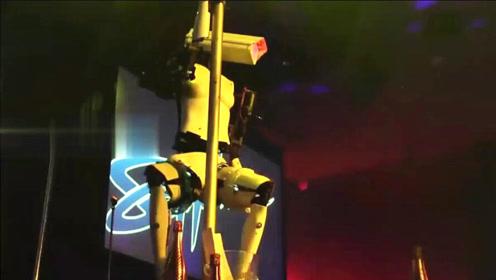 机器人跳钢管舞是什么效果?网友:画面太美不敢看