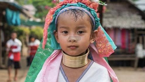 世界上脖子最长的民族,女孩从小戴项圈,至今还流传