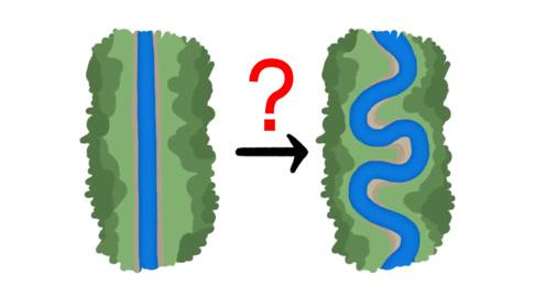 为什么自然界河流没有一个是直线的,都是弯弯曲曲的?