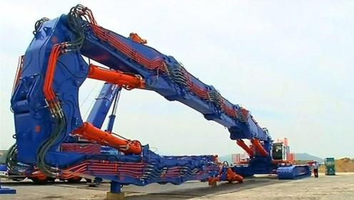 """日本打造""""巨型拆楼机"""",臂展能达65米,一栋楼瞬间变平"""