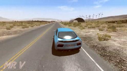 汽车驾驶游戏:坑道路碰撞