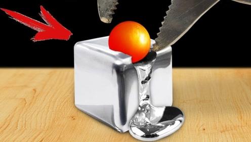将1000度铁球放在金属镓上,会发生什么?这反应让人兴奋不已