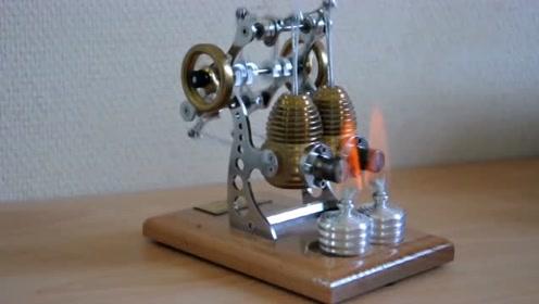 """这是一台高速双缸""""伽马式""""外燃发动机"""