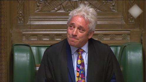英国下院议长含泪宣布将于10月31日辞职