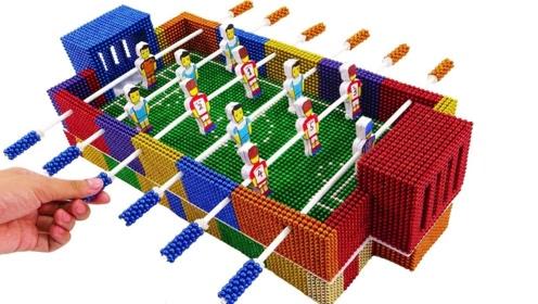 牛人再创巴克球新玩法,脑洞大开DIY桌上足球,一起来见识下!