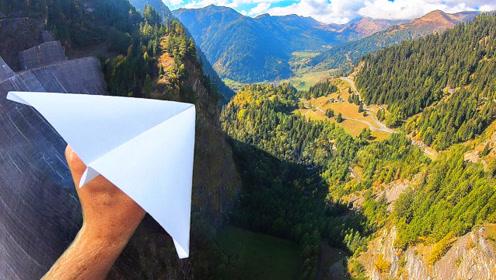 从大坝上扔出去的纸飞机能飞多远?说实话,今天算是开眼了