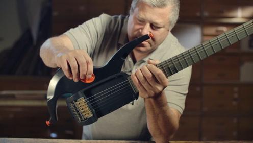 这把创意吉他竟能这样玩,10秒改变外观和声音