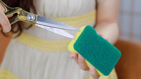 用剩的肥皂头可不能丢!媳妇把它塞进海绵,放在厨房解决了大难题