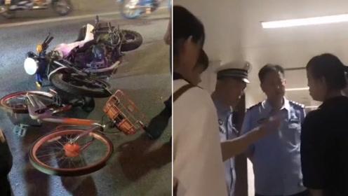 """汕头警方承认""""扔单车""""执法 否认伤者死亡"""