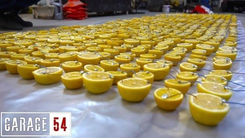 1000个柠檬制成电池,能启动汽车吗?一起来见识一下!