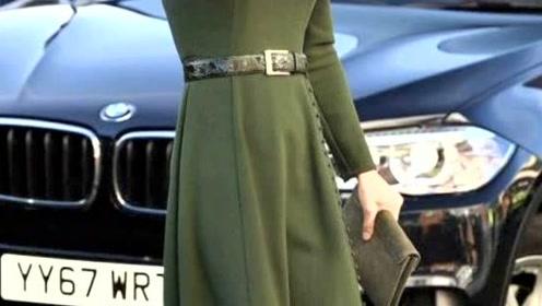 伊万卡和凯特又撞衫,穿绿色纽扣裙尽显两种姿色,不愧同为种草机