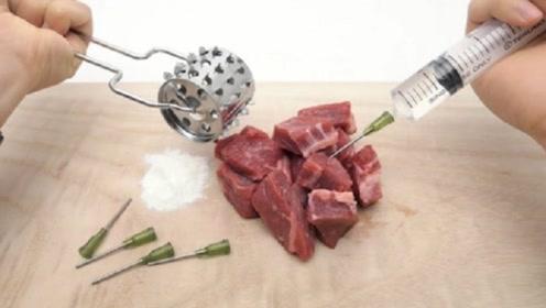 假牛肉究竟是怎么做成的?小伙还原全过程,看完背后一凉!