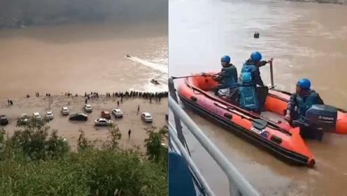 痛心!山西河津一轿车躲避落石掉入黄河,打捞多日确定车辆位置